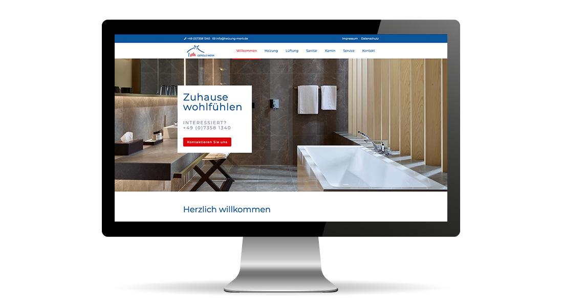 webdesign schriftundbild Merk Heizung