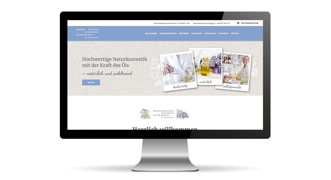 webdesign schriftundbild marienapotheke